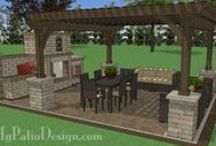 Pergola and Patio Swing Designs for Your Patio / Beautiful and shady pergola designs for your patio.  Download installation plans at MyPatioDesign.com