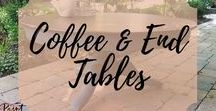 Coffee & End Tables / Painted and Refinished Collection of Coffee Tables and End Tables that are both Vintage, Chic and Antique. Painted Furniture, Painted coffee and end tables DIY Ideas Inspriations #paintedfurniture #paintedcoffeetable #paintedendtable #paintedfurnitureidea