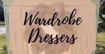 Wardrobe Armoire / Painted Wardrobe Armoire, Distressed, DIY Ideas Inspirations #paintedfurniture #paintedwardrobes #paintedarmoire #paintedfurnitureidea