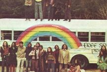 Hippies. / Flower power. Make Love, not walls.