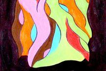 Paintings 1 by JWL / Art by Jeanette Wetterstein Larsen www.jeanettewettersteinlarsen.com