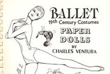 ballet 19th century dress up dolls / i enyoy this dolls they look awesome and there is a million ways how to decorate them  i like that you can colour them as you want