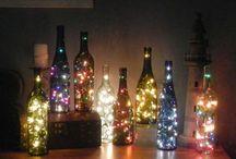 Hus: Lampor. / Sparkling lights, like stars.