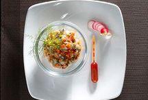 Entrées / Idées recettes pour des entrées simples et originales à servir froides !  Photographies © Promocash