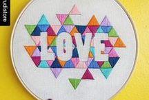 My love, Needle craft / Cross stitch