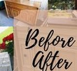 Before & After Furniture / Painted Furniture including painted buffets sidesboards dressers before and after  #beforeandafterfurniture #beforeandafterdressers #beforeandafterbuffets #beforeandaftersideboards