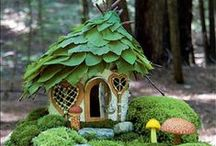 Miniature and Fairy Gardens / What fairy could resist resting her wings on a cozy bench beneath a tree, with moss at her feet and dainty flowers to admire? Create a miniature container garden that the fairies are sure to call home.