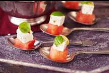 Wedding Food Recipes / Beautifully arranged buffet tables with mini croque monsieur and shrimp along with charismatic canapés are the perfect accompaniment to any wedding day (perhaps along with a cocktail or two).  / by Tesco Food