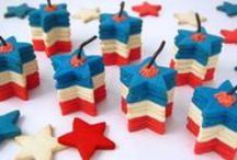 Fourth of July / Celebrate the Fourth of July with these three shades of delicious, all-American (and all tasty) treats  / by Tesco Food
