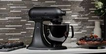 Black and bold / Cook boldly with the new KitchenAid Limited Edition Black Tie Stand Mixer. Complete the edgy look with intensely black kitchenware and decor from our range: http://www.kitchenwarehouse.com.au/Search-KWH?stq=black
