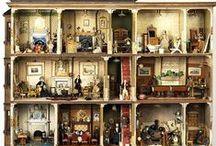 Antique and dollhouses in museum