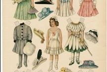 Dollhouse paper dolls