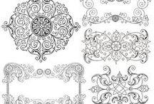 Textúry,transfery / Obrázky použiteľné na rôzne druhy ručných prác ako je dekupáž,transfer na polymérové hmoty,šperky a prívesky zalievané krištáľovou živicou,kartičky a pod.