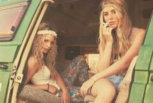 La bohème! / outfits, boho, festival, hippie, free spirited, colourful, natural