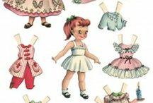 Paper Dolls and Toys.  Papierové bábiky a hračky pre deti.