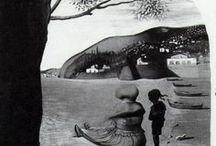 Obrázky optických klamov a pod
