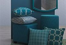 Turquoise / A blue-green color that can be energizing, as well as, peaceful. Bold and Sophisticated!