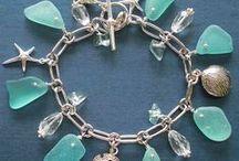 Šperky s morským sklom a mušličkami
