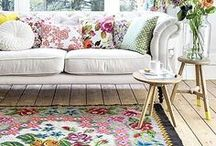 Floral Influence / Floral patterns a growing trend in fashion and they are making a comeback into the world of home decorating, too.