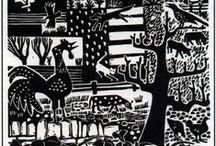 Printmaking - Blockprint Black and White
