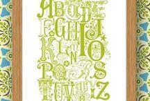 Letters/Fonts - Alphabet / Alfabeter med ulik utforming