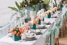 Sunburst + Teal Wedding / If you're going to pin everything... Then you might as well follow..