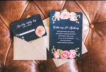 Invitations, Menus, Thank you Cards... / If you're going to pin everything... Then you might as well follow..