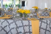 Yellow + Grey Wedding / If you're going to pin everything... Then you might as well follow..