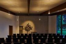 CULTURE: Funeral chapel, Verl / Architecture: Christian Ptatscheck, Verl || Lighting design: Beckhoff Technik und Design / Frank Drewitz