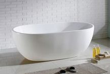 A Collection of Beautiful Bathtubs / From acrylic freestanding bathtubs to cast iron claw foot tubs. Here are a few of our favorite bathtubs!