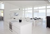 Kitchens & Dining / Whites, soft shades, black & wood, modern styles with nordic details