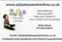 Children's Toys For Sale / I sell quality used children's toys and baby equipment. All are cleaned and immaculate condition. I deal with mainly ages birth to 5 years as I am also a qualified nursery nurse so feel free to message me via my facebook page for any advice. My page is www.facebook.com/SallysToysandClothes, thank you Sally