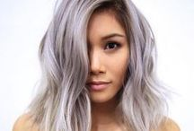 Pink/ Purple/ Grey Hair