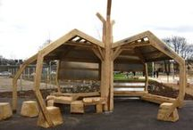Youth Shelters by Handspring / Teen hang out shelters that are about providing quality spaces for young people and anyone else to chat, laugh, chill and play.   Our shelters are robust, durable and semi enclosed so providing some shelter but open to allow views in and out for everyones' safety.