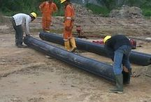 Projects-Pipa HDPE / The photos were taken about poverty around the HDPE pipe installation project.
