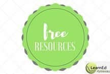 Free Resources from LearnEd Notebooks / Free resources for your classroom from the team at LearnEd Notebooks.