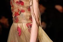 fashion DETAILS  ~romantic~ / Runway details; feminine, intricate embroidery; lace; beading; necklines, waistlines, sleeves, etc. Beautiful romantic textures and fabrics.