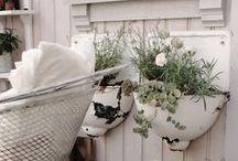 Shabby Chic im Garten / Schöne Ideen für Shabby Chic im Garten