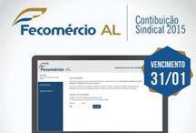 Fecomércio AL / Trabalhos realizados enquanto estagiário da Fecomércio AL. Supervisão de conteúdo e de criação de Sandra Peixoto.