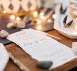 Papeterie / Auf dieser Pinnwand findet ihr einige Beispiele für die Papeterie zur Hochzeit