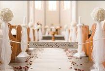 Dekoration in der Kirche bei der Hochzeit / Hier zeigen wir euch tolle Ideen für die Deko / Dekoration in der Kirche bei der Hochzeit