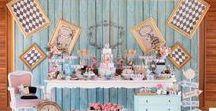Festa Alice no País das Maravilhas / Inspirações de festa da Alice.