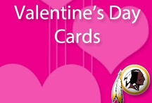 Redskins Valentine Cards / Repin and share one of our six Valentine cards and make a lasting impression on someone special this Valentine's Day! http://redsk.in/Y0fktH  / by Washington Redskins