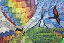 Hot Air Balloons / Inspiration for hot air balloon themed quits and blankets