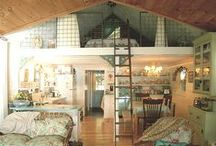 Garage Conversions, Small Living Space Ideas and Small Floor Plans / by Keri Parker