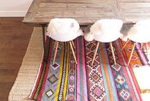 // carpets // / Carpets and rugs. Colorful, ethnic, bohemian.