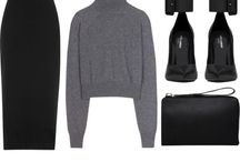 Sets // / Polyvore | Clothes and Accessories | Minimal | Monochrome | Classy | Sophisticated