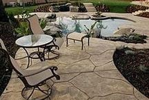 Inspire: Stamped Concrete / Inspirational board.