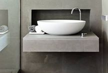 Inspire: Bathrooms / Inspiration via concrete for your bathroom. Like something you see? Ask us to make it for you!