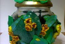 ambalaje deosebite / borcane decorate cu pasta fimo
